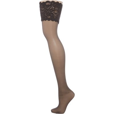 Wolford Satin touch 20 stay up, Nearly Black