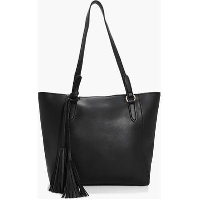 Tassel Detail Day Bag - black