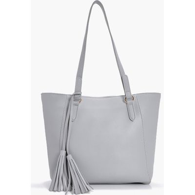Tassel Detail Day Bag - grey