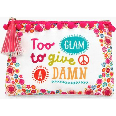 Glam To Give A Damn Make Up Bag - white