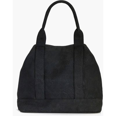 Panelled Day Bag - black