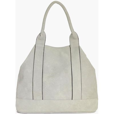 Panelled Day Bag - grey
