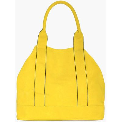 Panelled Day Bag - yellow