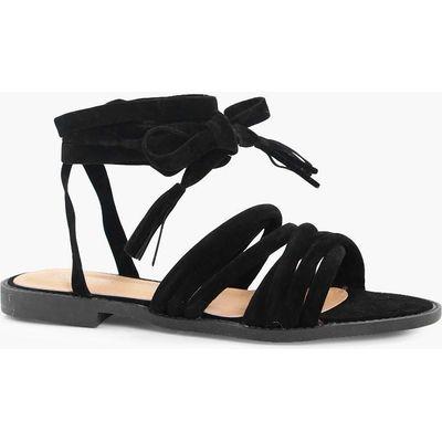 Multi Strap Gladiator Sandal - black