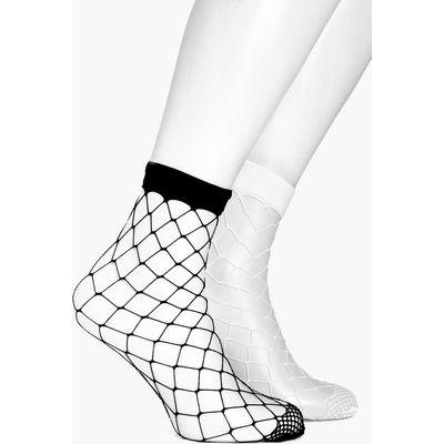 2 Pack Fishnet Ankle Socks - multi