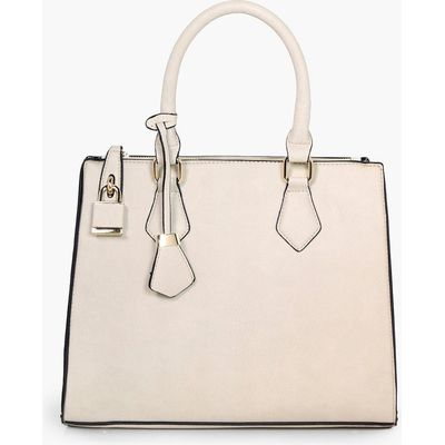 Structured Tote Day Bag - taupe