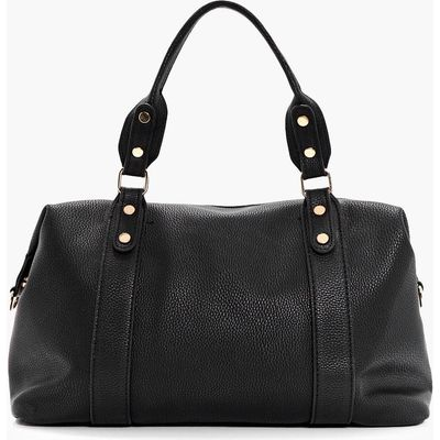 Stud Detail Holdall Day Bag - black