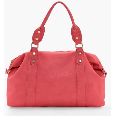 Stud Detail Holdall Day Bag - pink