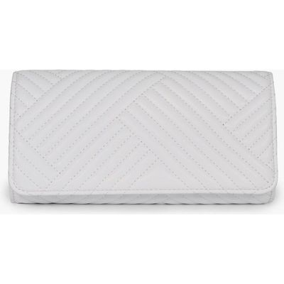Quilted Clutch Bag - white
