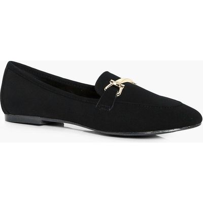 Metallic Trim Loafer - black