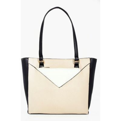 Colourblock Purse Attachment Day Bag - multi