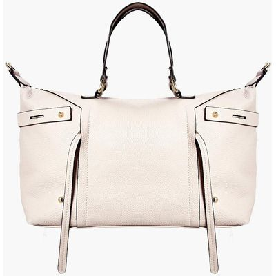 Metal Detail Day Bag - beige
