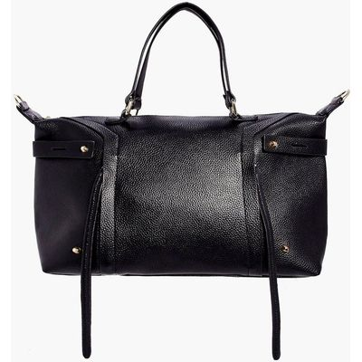 Metal Detail Day Bag - black