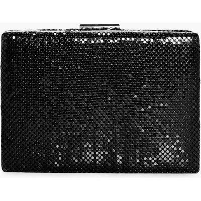 Chainmail Box Clutch Bag - black
