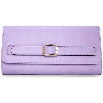 Buckle Detail Clutch Bag - lilac