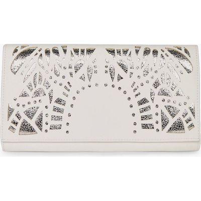 Deco Lazercut Clutch Bag - white