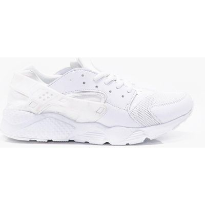 Trainer With Heel Detail - white