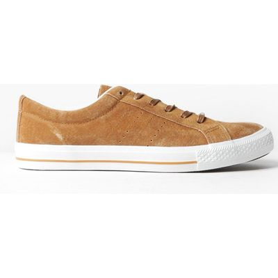 Suedette Lace Up Trainers - camel