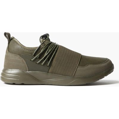 On Trainers with Elasticated Toe - khaki