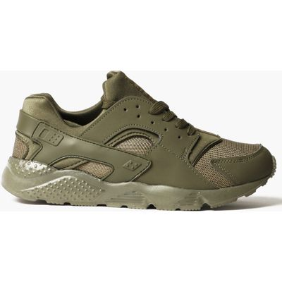 Up Running Trainer with Heel Detail - khaki