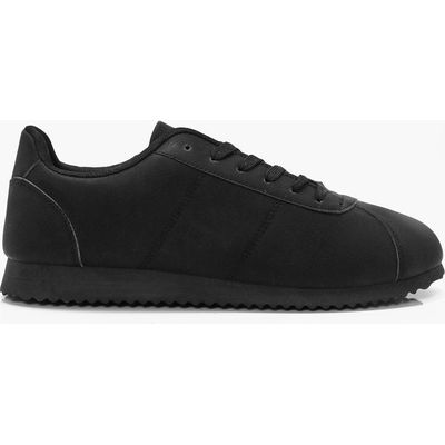 Lace Up Running Trainers - black