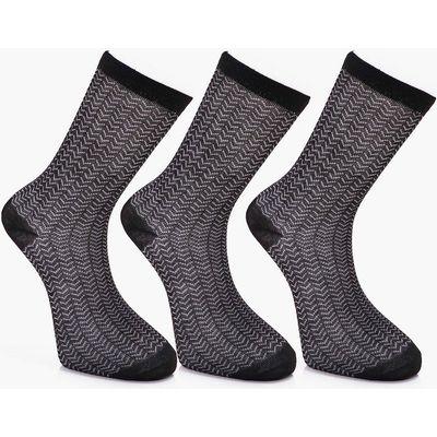 Pack Herringbone Socks - black