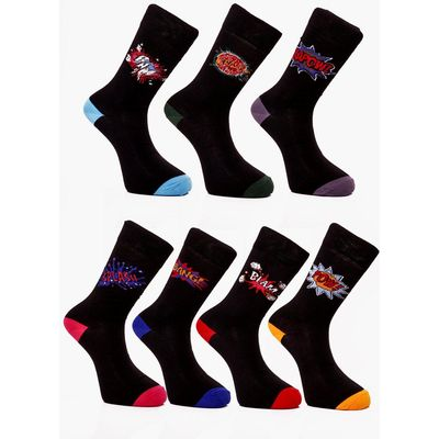 Pack Comic Book Socks - black
