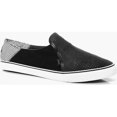 PU Slip Ons - black