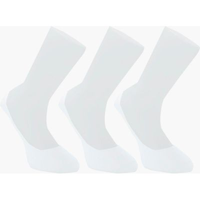 Pack Invisble White Socks With Grips - white