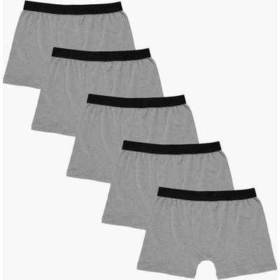 Pack Plain Grey Trunks - grey