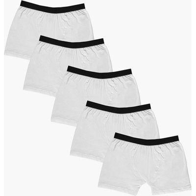 Pack Plain White Trunks - white