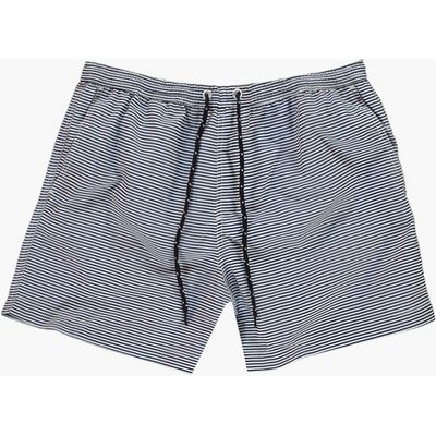 Length Striped Swim Shorts - blue