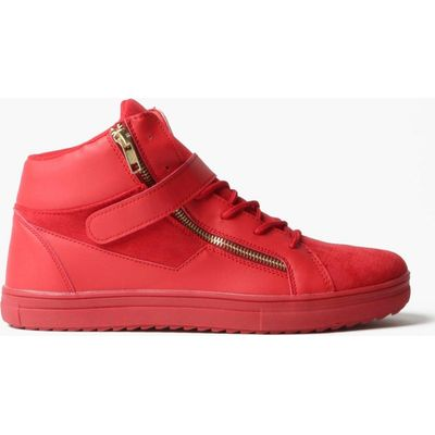 Detail Strap High Top - red