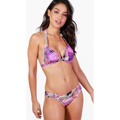 Dun Leaf Enhance Trim Bikini - purple