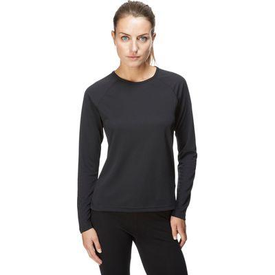 Berghaus Women's Long Sleeve Crew Baselayer - Black, Black