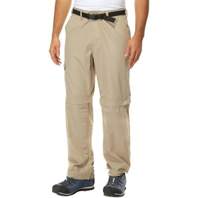 Peter Storm Men's Convertible Walking Trousers - Beige, Beige