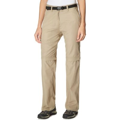 Peter Storm Women's Convertible Walking Trousers - Beige, Beige