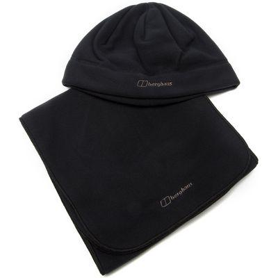 Berghaus Women's Spectrum Fleece Hat and Scarf 2 Pack - Black, Black