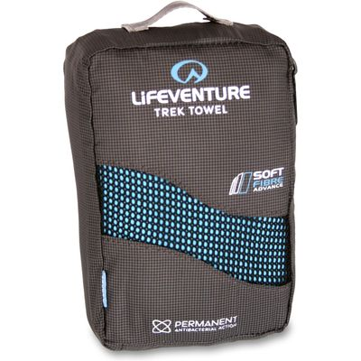 Lifeventure Extra Large Soft Fibre Trek Towel - Blue, Blue