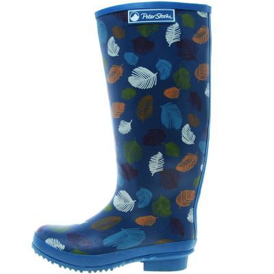Peter Storm Women's Feathers Wellies - Blue, Blue