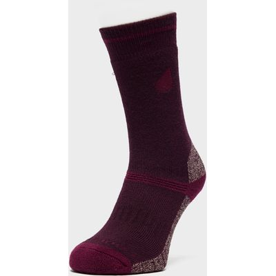 Peter Storm Women's Midweight Coolmax Hiking Socks - Twin Pack - Purple, Purple