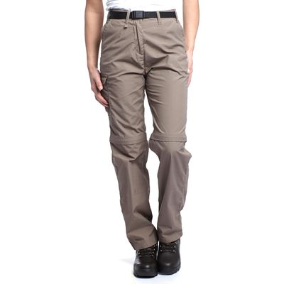 Craghoppers Women's Kiwi Zip-Off Walking Trousers - Beige, Beige
