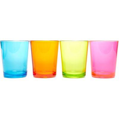 Eurohike Plain Tumbler Glasses - 4 Pack - Multi, Multi