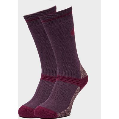 Peter Storm Women's Heavyweight Outdoor Socks - Twin Packs - Purple, Purple
