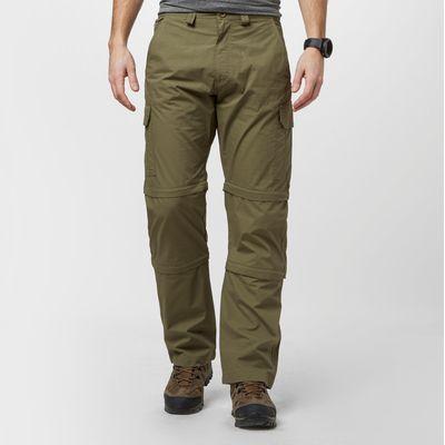 Peter Storm Men's Ramble Double Zip Off Trousers - Regular - Green, Green