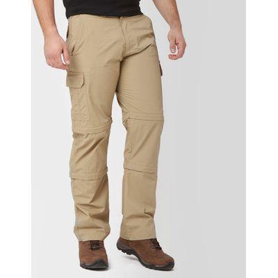 Peter Storm Men's Ramble Double Zip Off Trousers - Regular - Beige, Beige