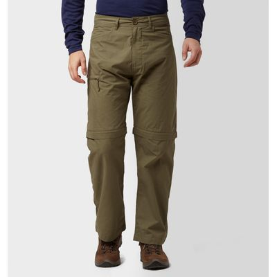 Peter Storm Men's Ramble Convertible Trousers - Short - Green, Green