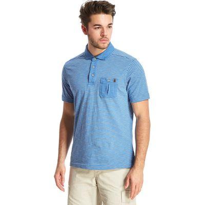 Brasher Men's Robinson Polo Shirt - Blue, Blue