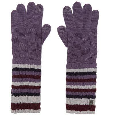 Smartwool Women's Chevron Gloves - Purple, Purple