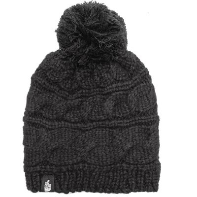 The North Face Women's Cable Pom Pom Beanie - Black, Black